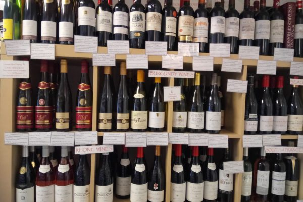 Selection of over 500 wines